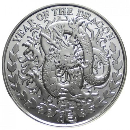 2012 * 1000 Scellini 1 OZ Somaliland Anno del Dragone