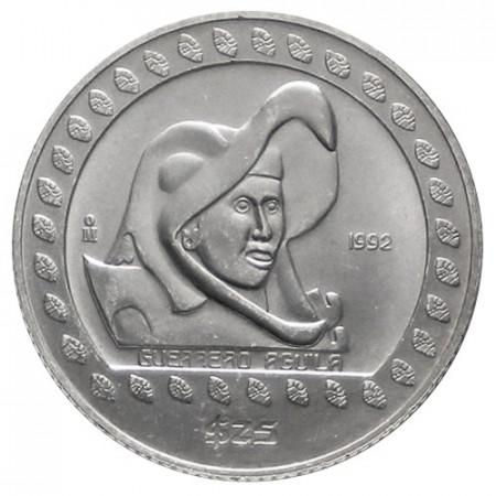 1992 * 25 pesos 1/4 OZ Messico guerriero aquila