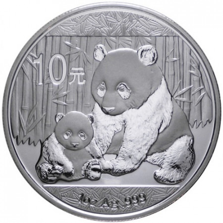 2012 * 10 Yuan d'argento 1 OZ Cina Panda