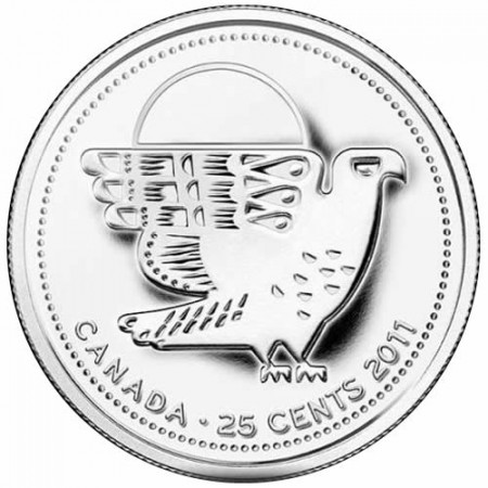 2011 * Quarto di dollaro Canada Falco Pellegrino