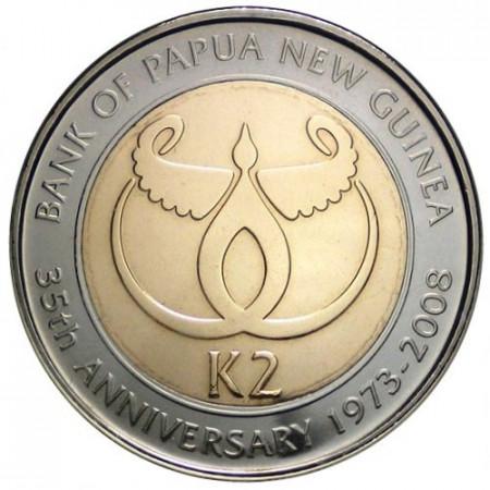 2008 * 2 kina Papua Nuova Guinea Banca Centrale