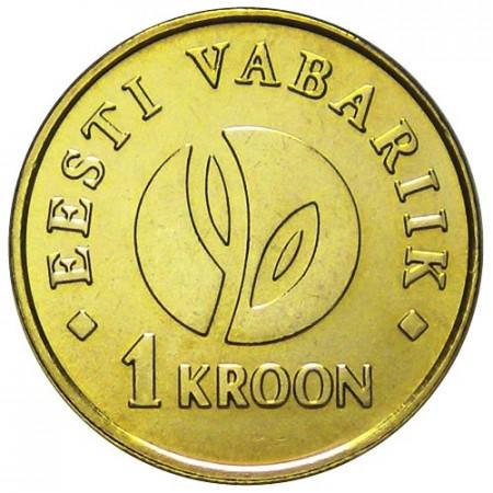 2008 * 1 corona Estonia Pianta Stilizzata