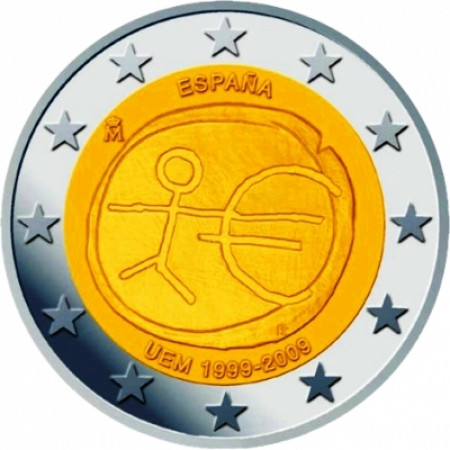 2009 * 2 euro SPAGNA Unione Economica e Monetaria