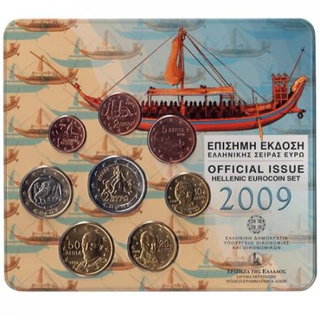 2009 * GRECIA Blister Ufficiale con 2 euro Europa fdc