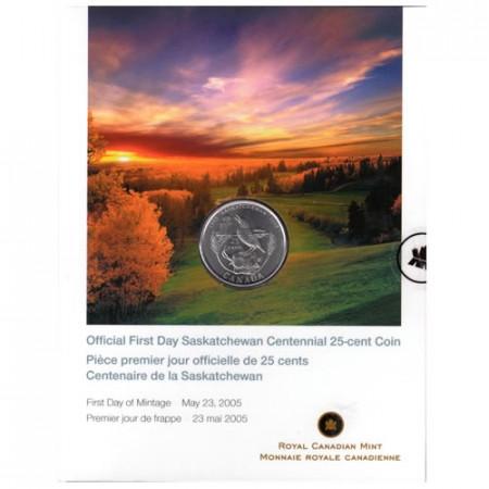 2005 * Quarto di dollaro Canada Saskatchewan coincard