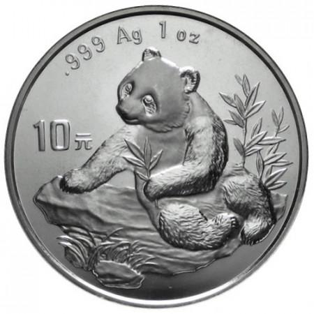 "1998 * 10 Yuan d'argento 1 OZ Cina Panda ""Data Piccola"""