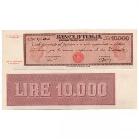 """1950 * Banconota Italia Repubblica 10.000 Lire """"Titolo Provvisorio - Medusa"""" BI.823 (p87b) SPL+"""