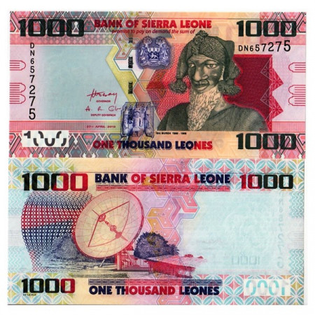 "2010 * Banconota Sierra Leone 1000 Leones ""Bai Bureh"" (p30) FDS"