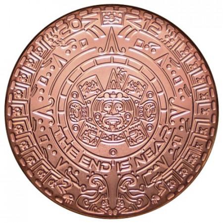"2015 * Copper Round 1 OZ Rame ""Calendario Azteco"" FDC"