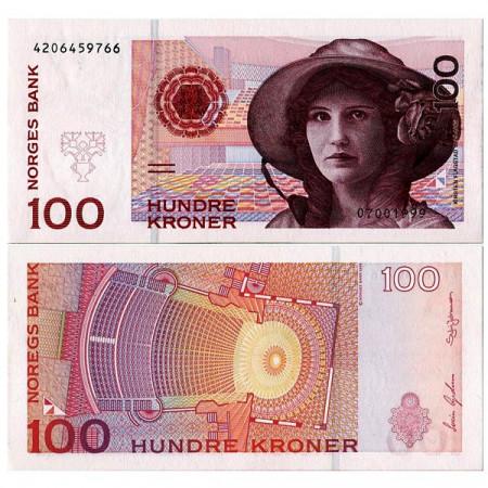 "1999 * Banconota Norvegia 100 Kroner ""K Flagstad"" (p47b) FDS"