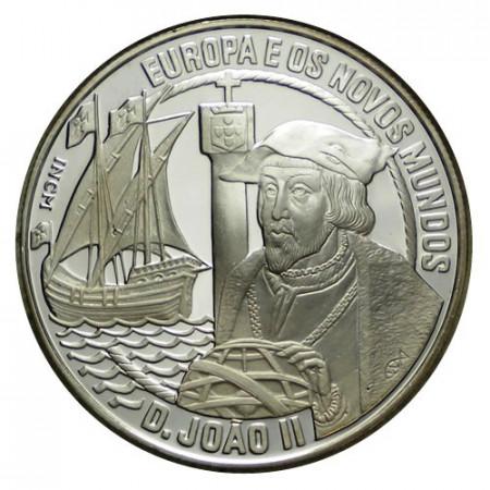 """1992 * 25 Ecu Argento Portogallo """"Giovanni II di Aviz"""" (X 25) PROOF"""