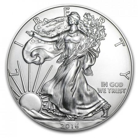 "2016 * 1 Dollaro Argento 1 OZ Stati Uniti ""Liberty - Silver Eagle"" FDC"