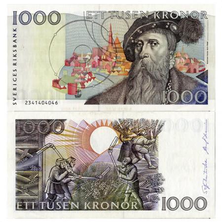 "ND (1992) * Banconota Svezia 1000 Kronor ""Gustav Vasa"" (p60a) FDS"