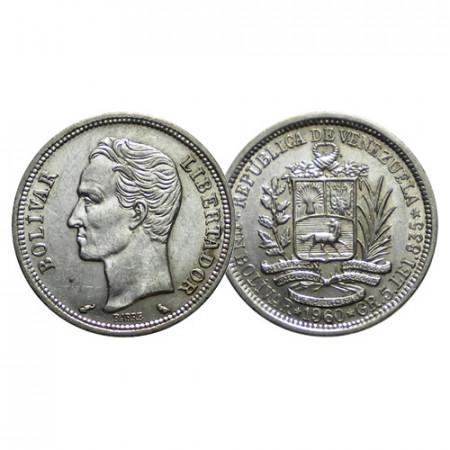 "1960 * 1 Bolivar Argento Venezuela ""Simón Bolívar"" (Y 37a) SPL"