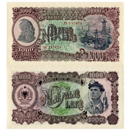 1957 * Banconota Albania 1000 Leke (p32a) FDS