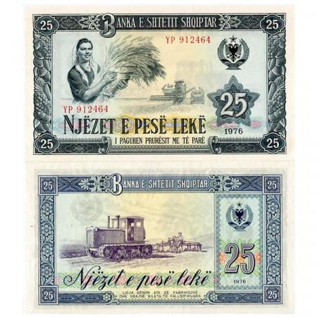 1976 * Banconota Albania 25 Leke (p44a) FDS