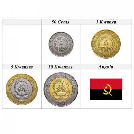 2012 * Serie 4 monete Angola Nuovo Design