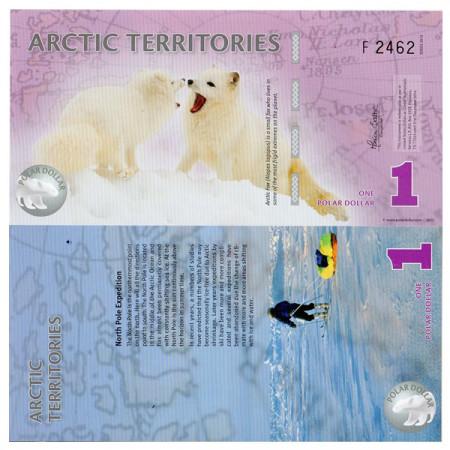 2012 * Banconota Polimera Territori Artici 1 dollaro FDS