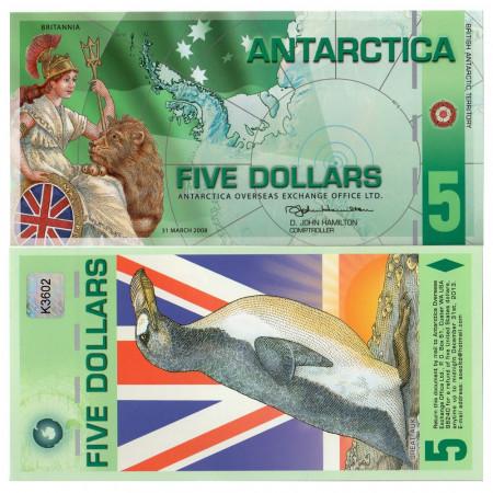2008 * Banconota Polimera Antarctica 5 ant.dollars FDS