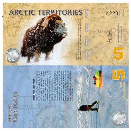 2012 * Banconota Polimera Territori Artici 5 dollari FDS