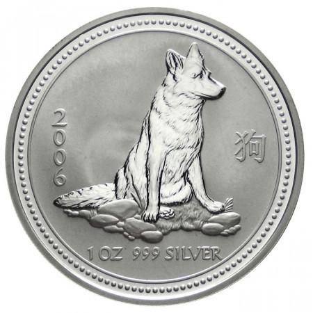 """2006 * 1 Dollar Argento 1 OZ Australia """"Anno del Cane"""" FDC"""