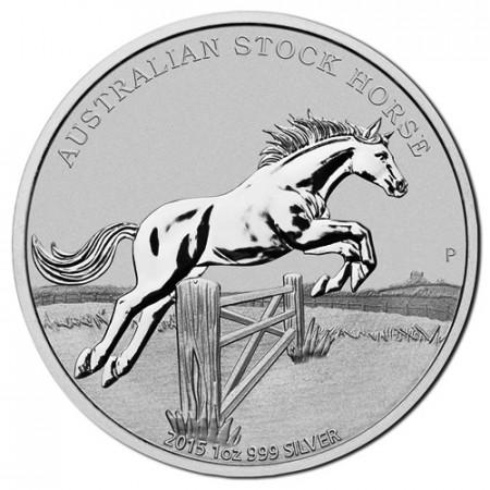"""2015 * 1 Dollaro Argento 1 OZ Australia """"Stock Horse"""""""