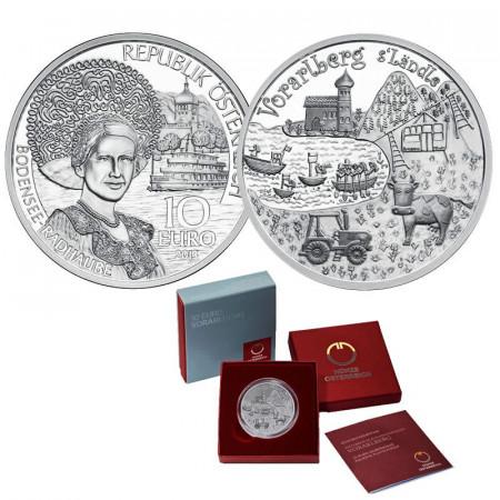 "2013 * 10 Euro Argento AUSTRIA ""Province Federali - Vorarlberg"" PROOF"