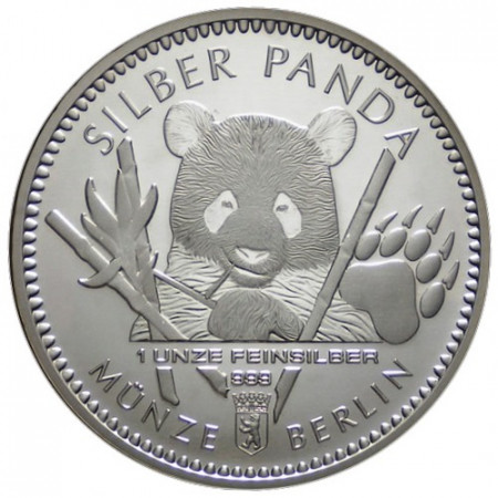 "2017 * Troy Ounce 1 OZ Oncia Argento ""Germania - Berlin Silber Panda"" FDC"