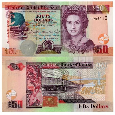 2006 * Banconota Belize 50 dollari FDS