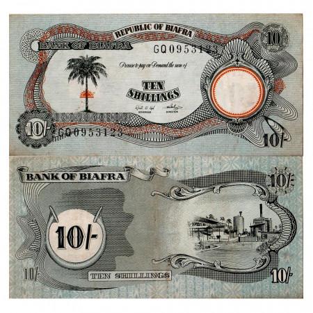 1968-69 * Banconota Biafra 10 scellini SPL