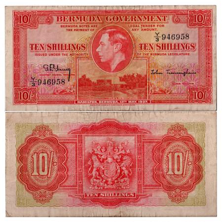 1937 * Banconota Bermuda 10 scellini MB