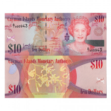 2010 * Banconota Cayman 10 dollari FDS