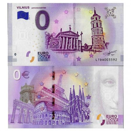 "2018-1 * Banconota Souvenir Lituania Unione Europea 0 Euro ""Vilnius"" FDS"