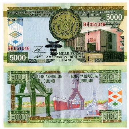 2013 * Banconota Burundi 5000 Francs (p48) SPL