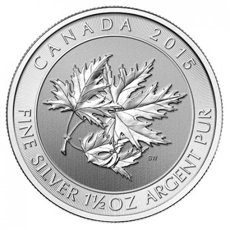 "2015 * 8 Dollari Argento 1,5 OZ Canada ""Multi Maple Leaf"""
