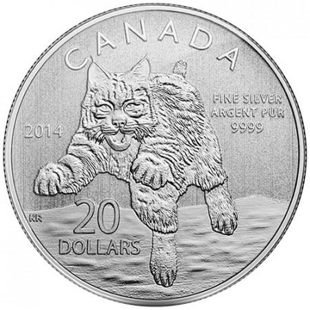 2014 * 20 Dollari Canada Lince rossa