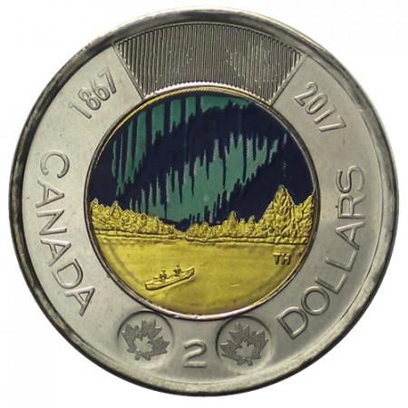 "2017 * 2 Dollari (Toonie) Canada ""150th Anniversary - My Canada, My Inspiration"" Colorato"
