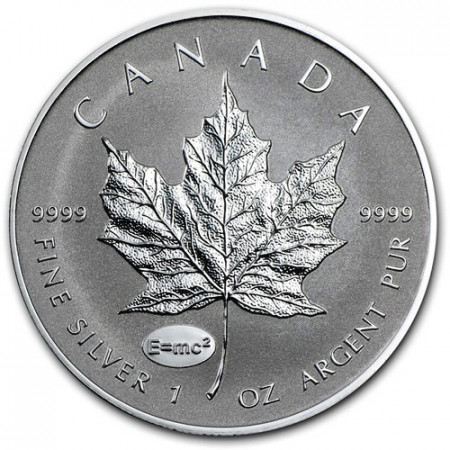 "2015 * 5 Dollari Argento 1 OZ Foglia Acero Canada ""A Einstein"" Privy Mark"