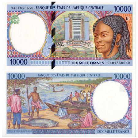 "1994 E * Banconota Stati Africa Centrale ""Camerun"" 10000 franchi FDS"