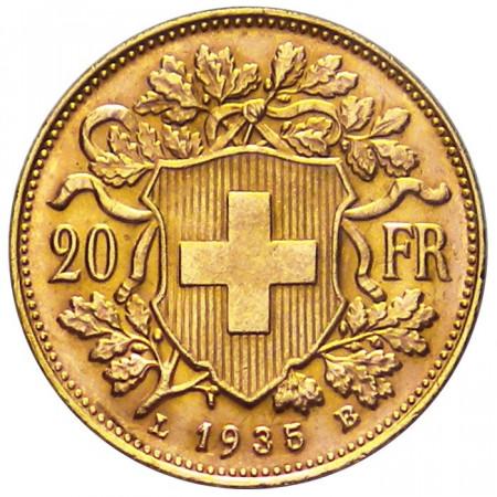 1935 LB * 20 franchi Svizzera marengo d'oro Vrénéli