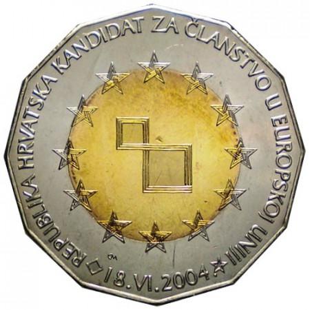 """2004 * 25 Kuna Croazia """"Candidata per l'Unione Europea"""""""