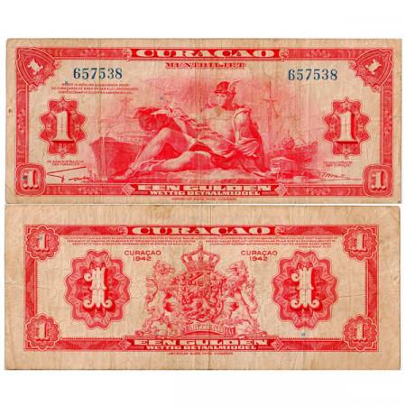 1942 * Banconota Curaçao 1 Gulden MB