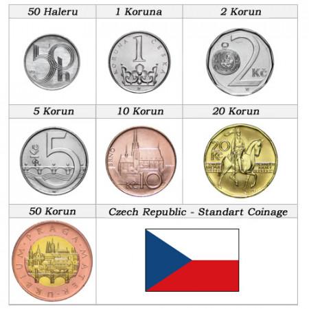 Anni Misti * Serie 7 monete Repubblica Ceca
