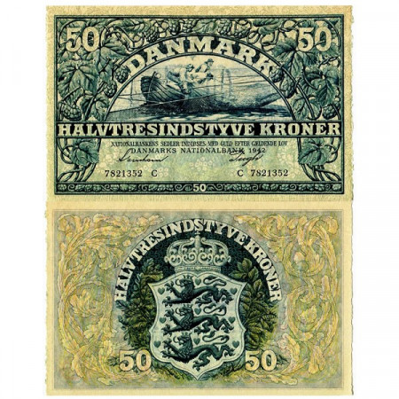 1942 * Banconota Danimarca 50 Kroner (p32d) SPL