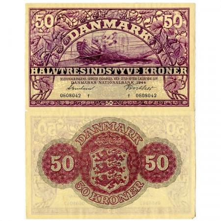 1944 * Banconota Danimarca 50 Kroner (p38a) SPL+