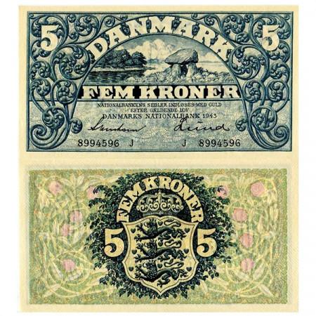 1943 * Banconota Danimarca 5 Kroner (p30j) SPL