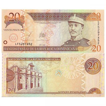 2003 * Banconota Repubblica Dominicana 20 Pesos Oro FDS