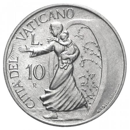 """1996 * 10 Lire VATICANO """"Giovanni Paolo II –  Bambini Accompagnati alla Pace"""" (KM 272) FDC"""