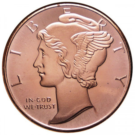 """2014 * Copper round Stati Uniti Medaglia in rame """"Mercury Head"""""""
