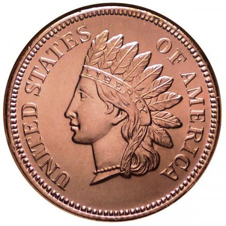 "2014 * Copper round Stati Uniti Medaglia in rame ""Indian Penny"""
